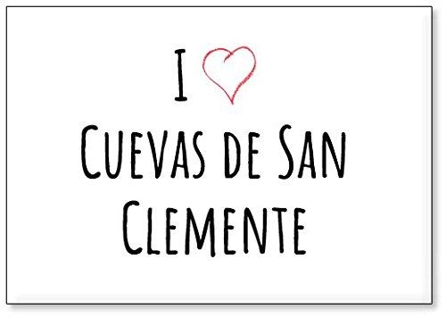 Mundus Souvenirs - Amo Cuevas de San Clemente, Imán para Nevera (diseño 3)