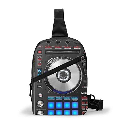 Digitale DJ-Controller-Schultertasche, Crossbody-Schultertasche, Brusttasche, Outdoor, Wandern, Reisen, persönliche Tasche für Damen und Herren, wasserabweisend