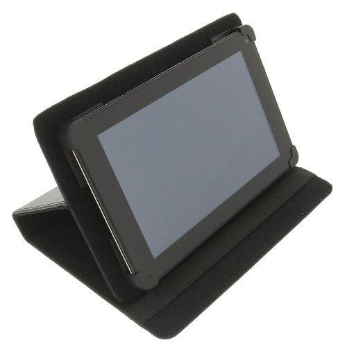 foto-kontor Tasche für Lenovo IdeaTab A1000-F IdeaTab A2107A BookStyle Schutz Hülle Schwarz