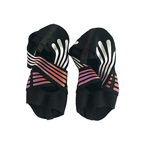 Fiaoen Damen Half Toe Five Toe Grip rutschfeste weiche Sohlen Professionelle Ballett Yoga Schuhe Pilates Schuhe Great Gift attractively Magnificent