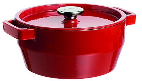Pyrex Slow Cook - Cacerola De Hierro Fundido Redonda,24 Cm, 3,6 L,...