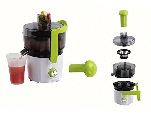 Exprimidor de frutas y verduras de cristal de 0,75 litros, picadora de frutas (interruptor de impulso, exprimidor de frutas, zumo de verduras, batidos).