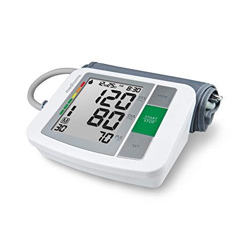 Medisana BU 510 - Tensiómetro para el brazo, pantalla de arritmia, escala de colores de los semáforos de la OMS, para una medición precisa de la tensión arterial y del pulso con función de memori