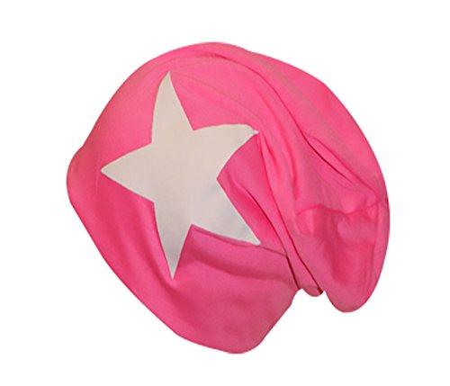 Jersey de Coton Long Slouch Bonnet Unisexe Bonnet Uni couleurs et avec étoile automne hiver - - Taille Unique