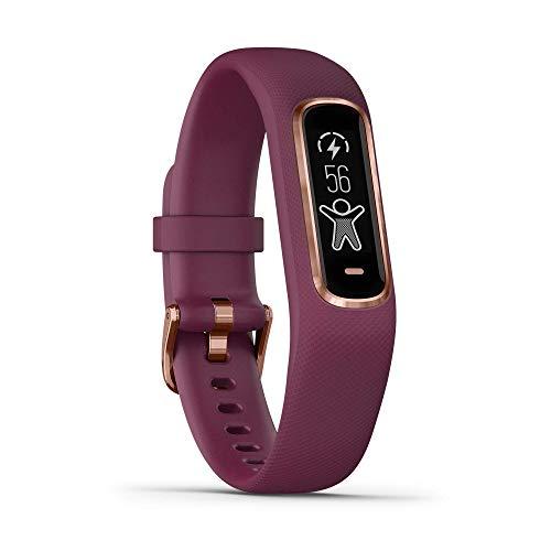 Garmin vívosmart 4 Fitness-Tracker - stilvolles Design, Herzfrequenzmessung am Handgelenk, Schlafanalyse