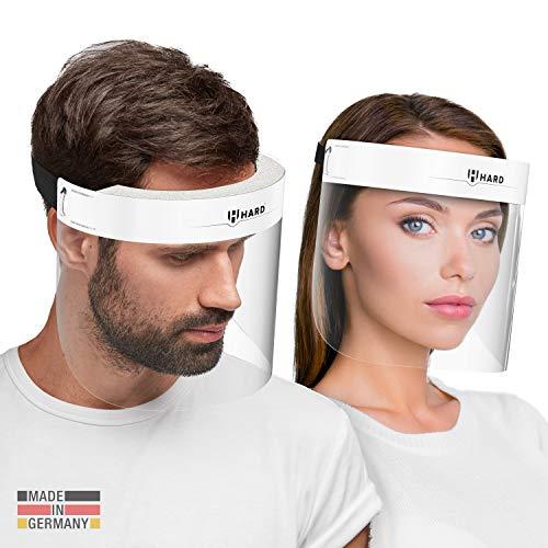 HARD 1x Pro visor Visiera protettiva, Certificato medico, Schermo facciale di sicurezza Antinebbia Face Shield, Prodotto…
