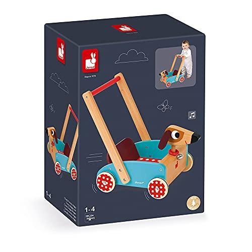 Janod J05995 – Lauflernwagen aus Holz, Crazy Doggy - 5