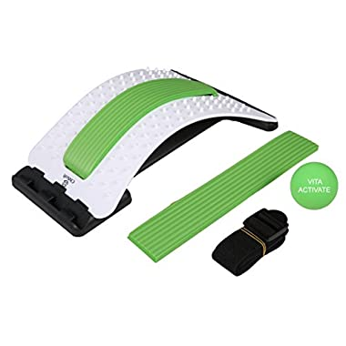 Best Arched Back Stretcher As Seen Doctors TV - CHISOFT Lumbar Stretching Device | Improve Posture, Get Muscle Tension, Sciatica Back Pain Relief
