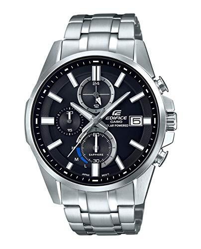 CASIO Herren Chronograph Solar Uhr mit Edelstahl Armband EFB-560SBD-1AVUER