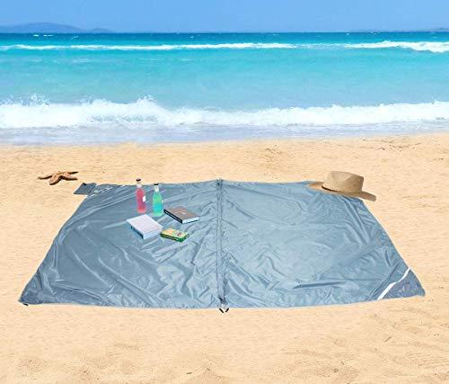 Homecall - Esterilla de playa plegable con bolsillo, XXL (azul)