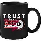 Edición de vídeo Regalo para Editor de vídeo Taza 11 oz Negro