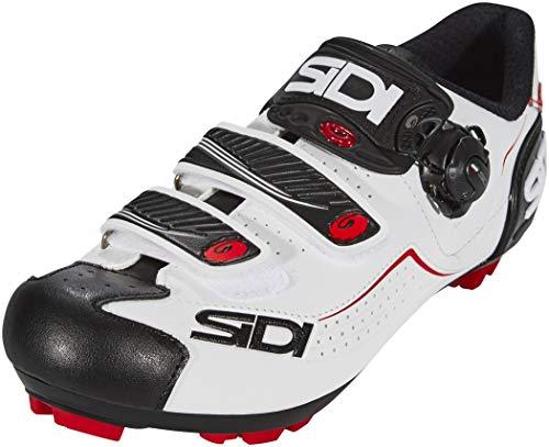 Sidi Trace MTB - Zapatillas de ciclismo, color blanco, negro y rojo, 45 EUR [US 10.5]