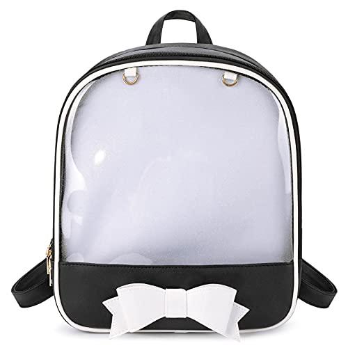 SteamedBun Ita Bag Backpack Bowknot Kawaii Transparent Window Candy Color Pins Bag