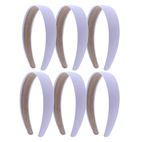 1 Satin Headband - Set of 6 - Lavender