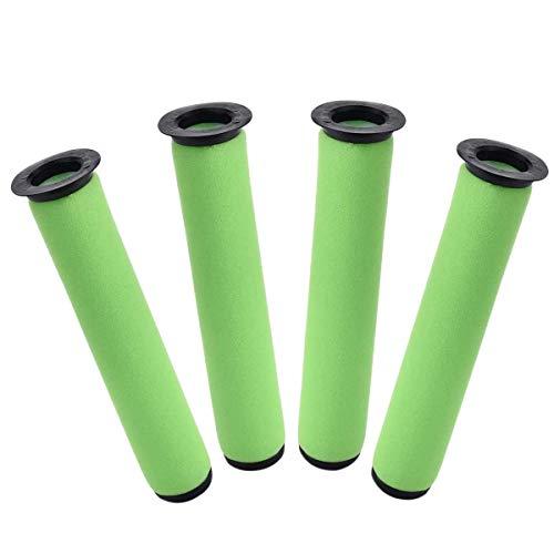 BOINN 4 Packs Washable Dirt Bin Stick Filter Replacement Kit for Gtech AirRam Long MK2 K9 Cordless Vacuum Cleaner Filters