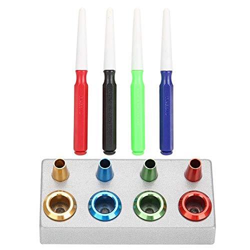 Professional Watch Maintenance Care Olieschalen kit met 4 olieschalen en 4 oliestiften, te gebruiken voor het reinigen, voor naaimachines, fietsrails, doordringende oliën