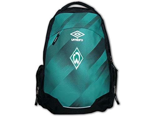 UMBRO Werder Bremen Rucksack grün schwarz Werder Backpack SVW Daybag