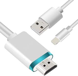 【 設定不要】HDMIケーブル phone hdmi変換ケーブル1.8m Digital AV変換アダプタ Phone/Pad/Podをテレビ出力 ライトニング HDMI接続ケーブル iOS11、12、13、14 YouTube TV出力 (w...