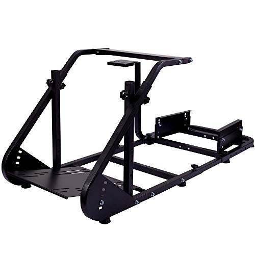 Minneer Racing Wheel Stand Suitable for G25 G27 G29 G920 Racing Wheel Steering Wheel Stand Racing Game Stand Simulator Cockpit with Capacity 220LBS Without Wheel and Pedals (Black)