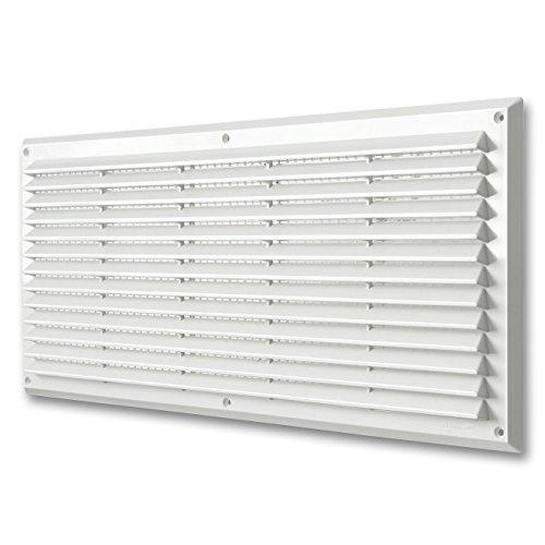 La Ventilazione AR5023B Griglia Plastica Rettangolare da Sovrapporre, Bianco, 500x227 mm