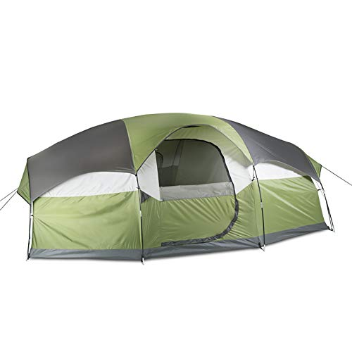 Superrella Portable Waterproof Family Large Tent with Double Layer for 6-8 Person Camping, Hiking,...