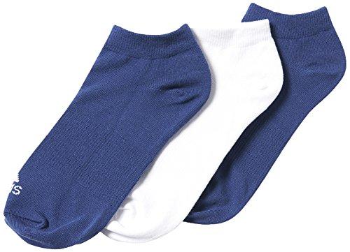 Adidas Performance No-Show Thin 3PP, Calcetines unisex, 3 pares, Azul Marino / Blanco / Negro, 35-38