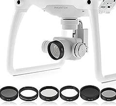 HUANRUOBAIHUO 6pcs Camera Lens UV+CPL+ND4/8/16 Filter Protect for DJI Phantom 4/Phantom 3 Pro/Advanced (Color : As Shown)