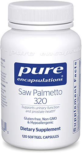 Pure Encapsulations - Saw Palmetto 320 - Hypoallergenic Supplement with Concentrated Support for Healthy Prostate and Urinary Function - 120 Softgel Capsules