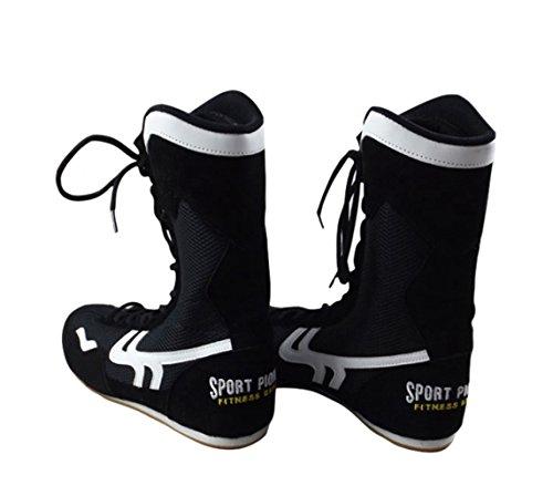 Alto Top Zapatos de Boxeo Boxeador Botas para Hombres