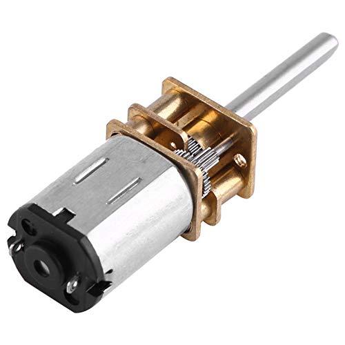 DC 12V Getriebemotor Micro Zahnrad Speed Geschwindigkeitsreduzierung mit langer Ausgangswelle für Roboter DIY 100/200 / 2000RPM(12V 200RPM)