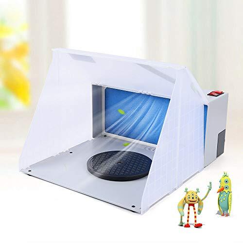 25W Mobile Tragbar Airbrush Absauganlage Kabine Filter Spray Booth Lackieren Werkzeug + Filter Absauganlage Spritzkabine Lackierkabine Sprühbox