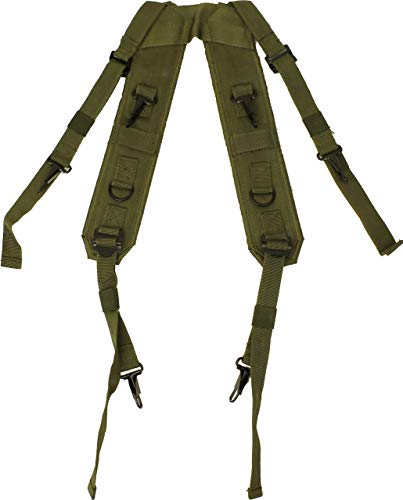 ARMYU Olive Drab Combat H Style LC-1 Military Suspenders Load Bearing Harness Backpack Straps