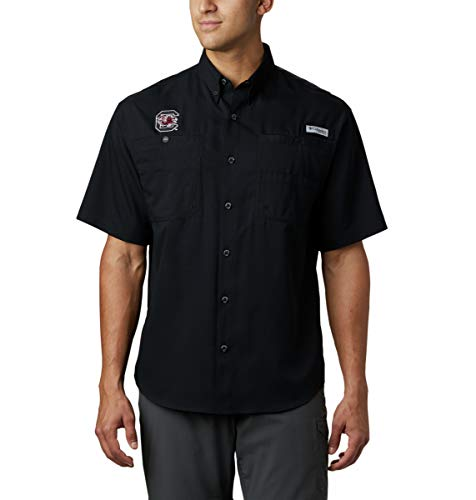 NCAA South Carolina Fighting Gamecocks Men's Tamiami Short Sleeve Shirt, XX-Large, SC - Black
