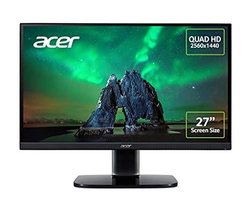 Acer KA272Ubiipx 27 Inch Quad HD Monitor (IPS Panel, FreeSync, 75 Hz, 1 ms, DP, HDMI, Black)