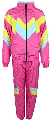 jaren '80 trainingspak kostuum voor mannen - roze geel babyblauw - maat S-XXXXL - Joggingbroek Assi, maat: XL