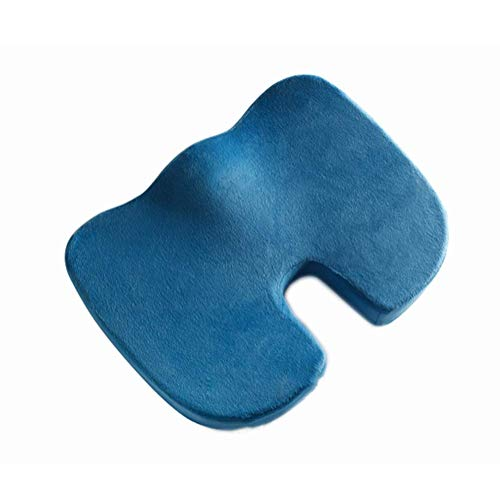 LIYANJIN Memory Foam Cotton Car Seat Cushion,orthopedic U-shaped Ergonomics Comfort Beautiful Hip Office Chair Pad-blue 45x35x7cm(18x14x3inch)