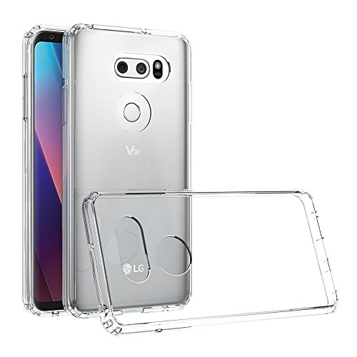 Digital Bay Cover LG V30 Cover LG V30 [TPU Shock-Absorption] **Capsule**Crystal Clear** Assorbimento di Scossa Chiaro TPU Goccia Protezione, Custodia LG V30