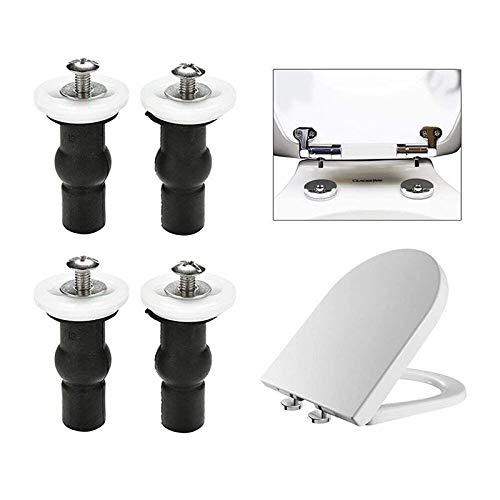 Gxbld-yy Toilet Seat Top Viti Fix Fissaggi 2 Coppie Universale Espansione di Gomma Vite Superiore Noci Foro cieco Cerniere Raccordi 4pcs (Colore : Black)