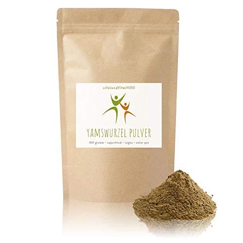 Yamswurzel Pulver (Wild Yams) - 100 g - Dioscorea villosa - Spitzenqualität - ideal für Smoothies und andere Getränke - 100% vegan & rein - glutenfrei, laktosefrei - OHNE Hilfs- u. Zusatzstoffe