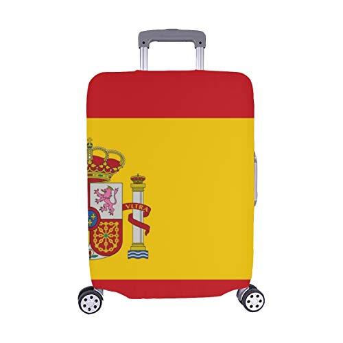 (Solo Cubrir) Alta Bandera Detallada España Maleta con Ruedas Maleta Protectora de Viaje Cubierta Protectora para de Maleta 28.5 X 20.5 Inch