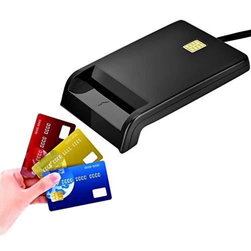 Lector de Tarjetas Inteligentes CAC, Lector de Tarjetas de Acceso Común USB para ID CAC DNIE ATM IC SIM Card Card Cloner Connector...