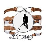 DIYthinker - Pulsera de hockey para educación física, para correr, pulsera de amor, cadena de amor, adorno de cuerda