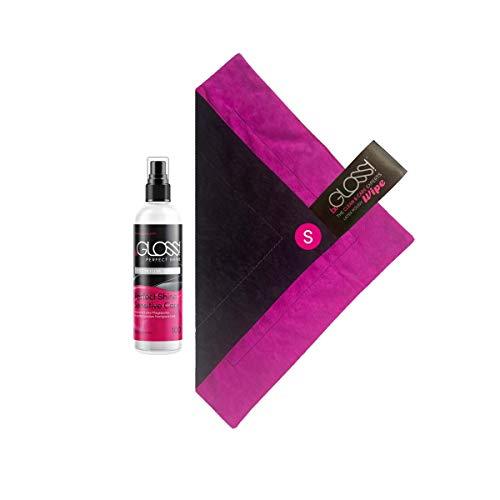 beGLOSS Perfect Shine PREMIUM SPRAY 100 ml + WIPE SET - Latex Spray Hochglanz Latexpflege Politur für Latex Kleidung + Poliertuch