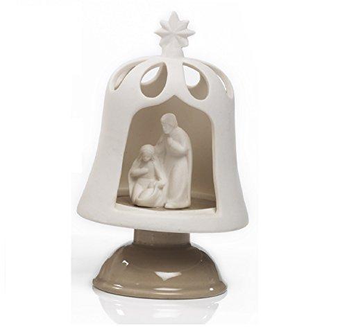 Élégant Nativité Crèche cloche porcelaine avec LED cm.19 by Paben Noel