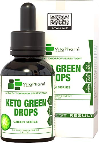 Keto Green Drops by VitaPharm Nutrition | Advanced Diet Drops for Men and Women | Simply Works with All Diets Including Keto (Ketogenic) to Speed Up Ketosis | Ultra High Potency 2 Fl oz 1