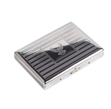 XIAOXIA Caja de cigarrillos de 20 piezas ultrafina, de metal, resistente a la presión ordinaria gruesa 10 cm portátil