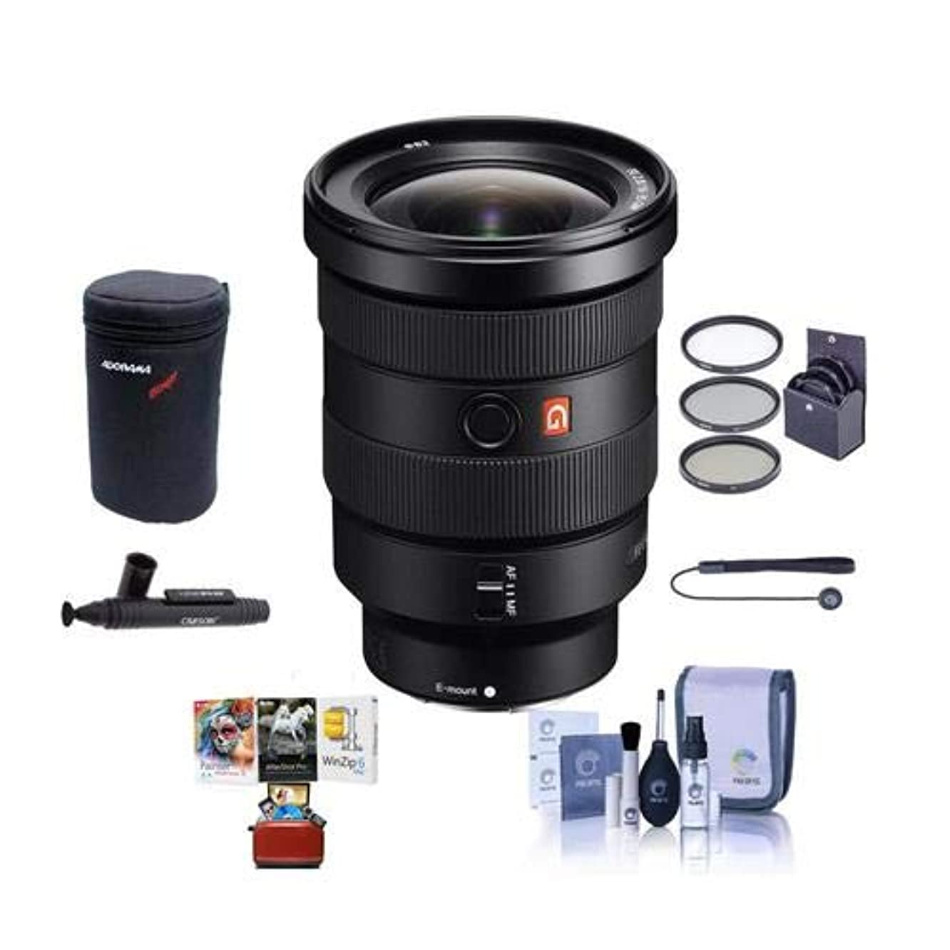 Sony FE 16-35mm f/2.8 GM (G Master) E-Mount Lens - Bundle with 82mm Filter Kit, Lens Case, Cleaning Kit, Capleash II, Lenspen Lens Cleaner, Mac Software Package oxfgkjtib964554