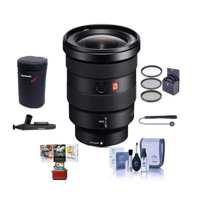 Sony FE 16-35mm f/2.8 GM (G Master) E-Mount Lens - Bundle with 82mm Filter Kit, Lens Case, Cleaning Kit, Capleash II, Lenspen Lens Cleaner, Mac Software Package