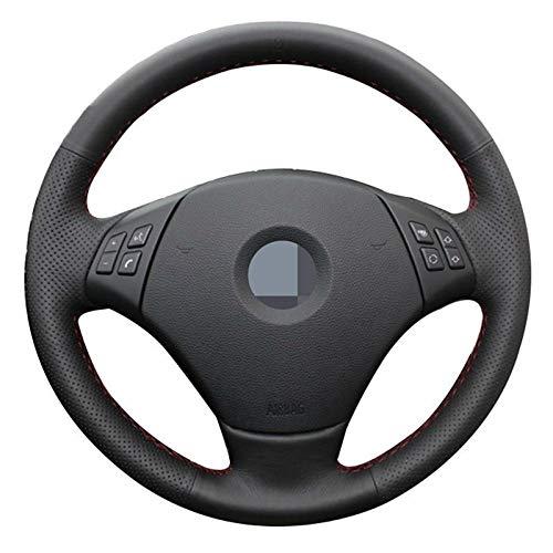 Funda Para Volante Coche Cosido a mano DIY Negro Artificial Volante de cuero cubierta for BMW E90 320 318i 320i 325i 330i 320d X1 328xi 2007 Funda Volante (Color Name : Gray Thread)