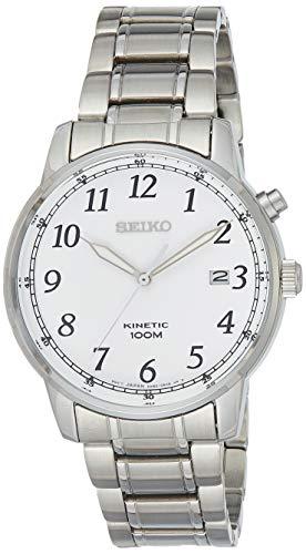 Seiko Kinetic Herren-Uhr Edelstahl mit Metallband SKA775P1